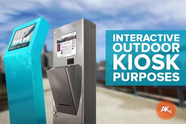 Interactive outdoor kiosks